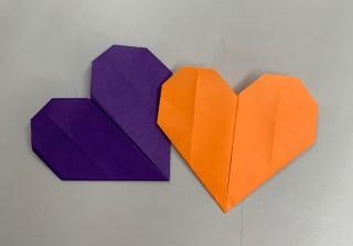 折り紙で作ったアマビエのうろこ