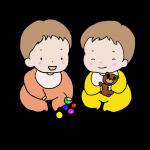 双子のイラストです